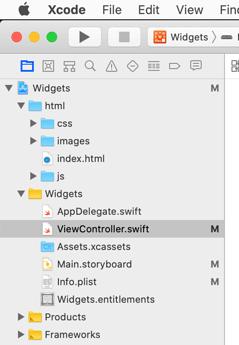 widgets-xcode