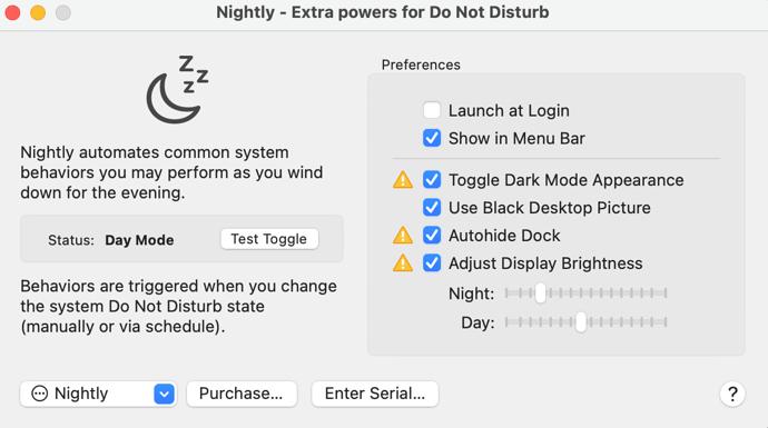 nightly-preferences