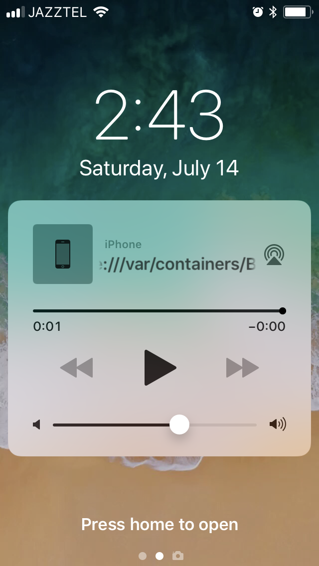 Stop or continue Hype project audio on iOS lock screen in