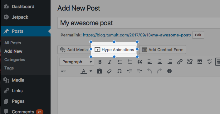 Tumult Hype Animations Wordpress Plugin - Exporting & Previewing - Tumult Forums