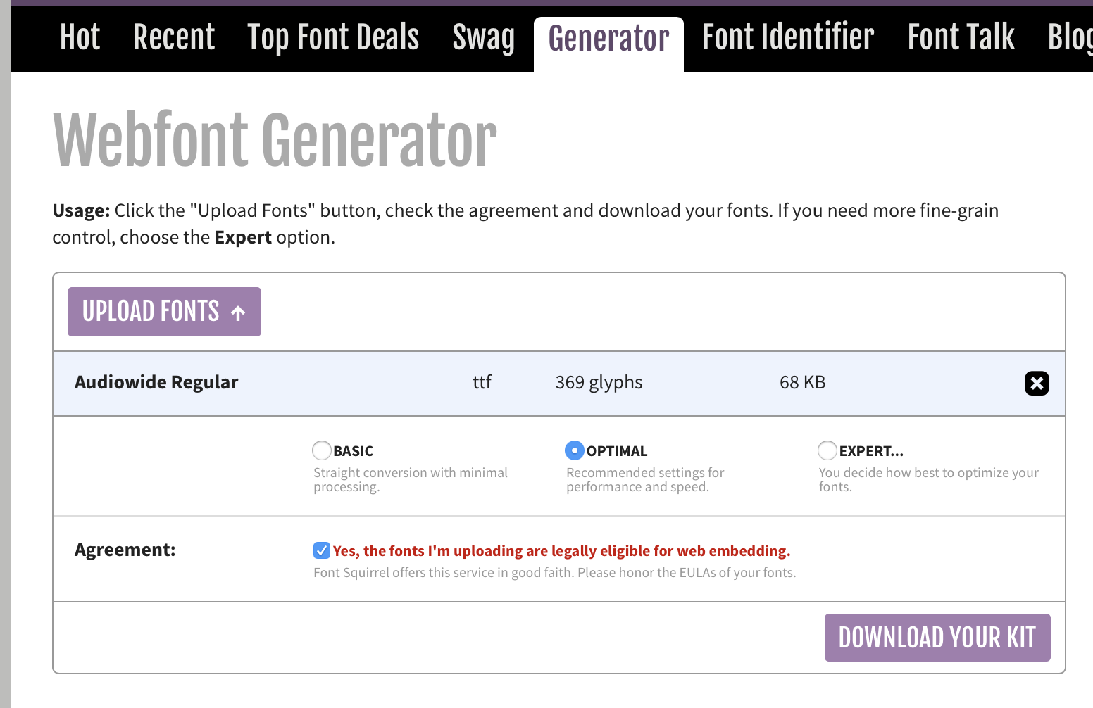 Quickly embedding custom fonts in your Hype document using