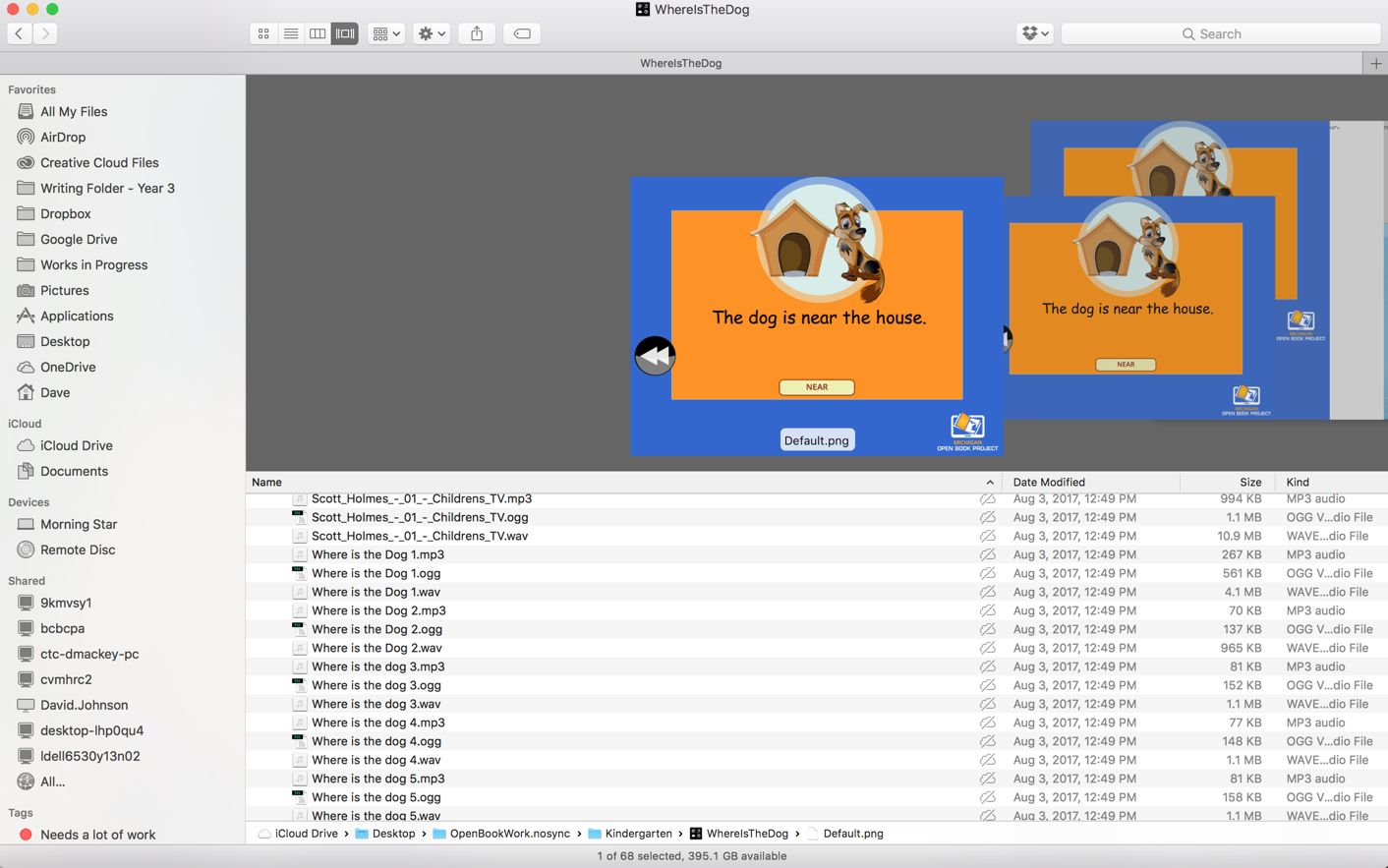 ogg Files missing when loading in iBooks Author - iBooks