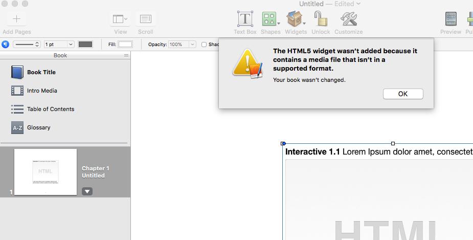 iBooks Author Error Importing Widget - Tumult Forums