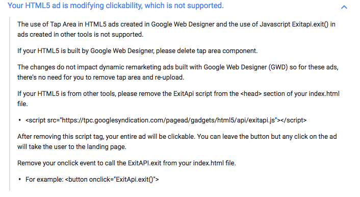 Doubleclick and modified clickability - Advertising - Tumult