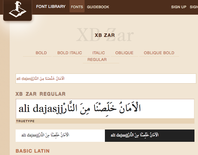 Arabic web fonts - Tips & Tricks - Tumult Forums